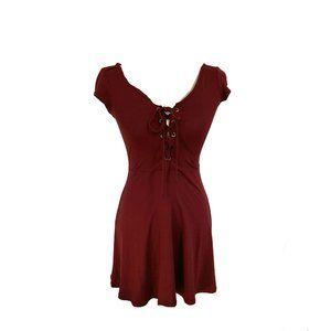 AEO Burgundy Mini Dress Size XS NWT